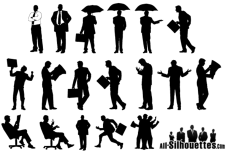 Silhouette Businessman Vector Free Download