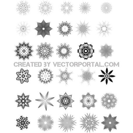 SNOWFLAKES VECTOR FREE SET.eps