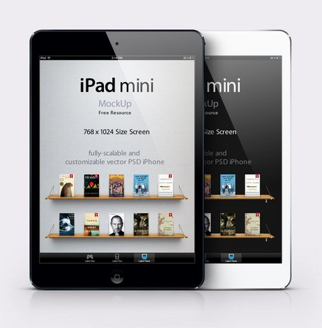 iPad Mini Psd Vector maquette