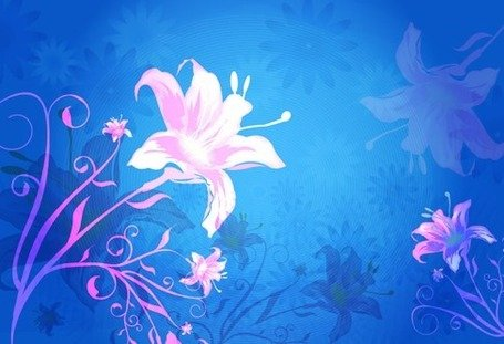 Flower Vector Background Graphic