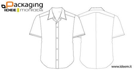 Shirt template with collar