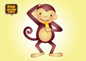 Vector macaco personagem