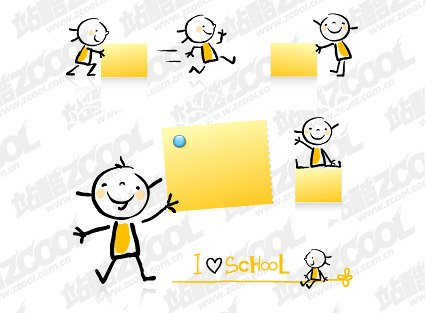 Cute and adorable children with Memo Paper