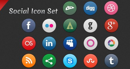 Sociaal Icon pictogram instellen sociaal Icon Set Social Media iconen