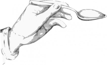 Hand Holding A Spoon