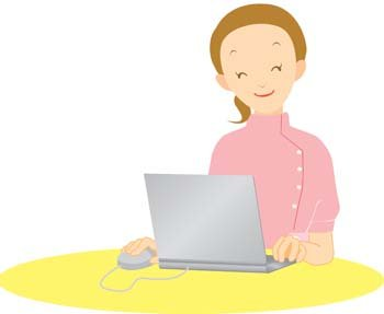 Girls and computer vector 52