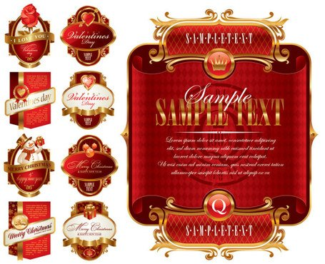 Holiday label