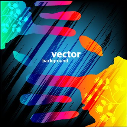 Hand Paints Abstract vector Backgrounds