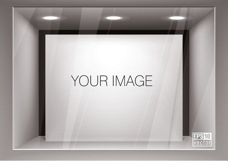 Window Display Effect Diagram Template Vector 1