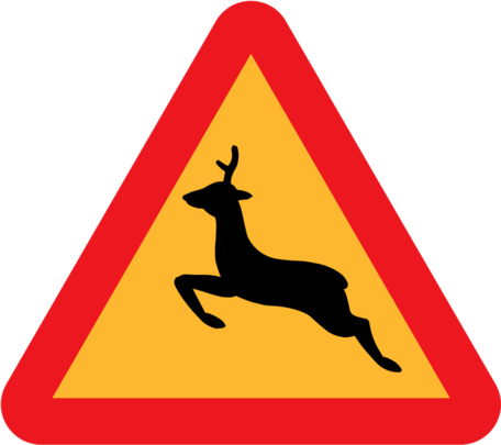 Warning Deer Roadsign