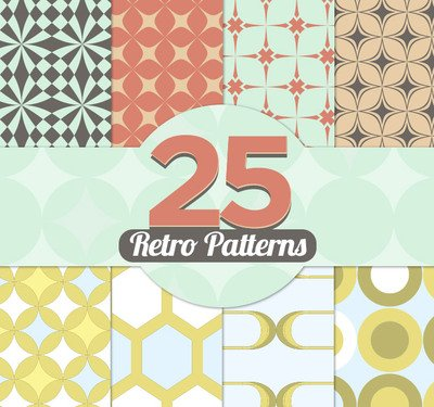 25 Geometric Vintage Patterns