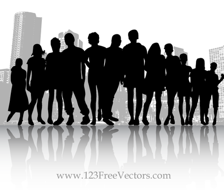Free Vector Crowd People in the City