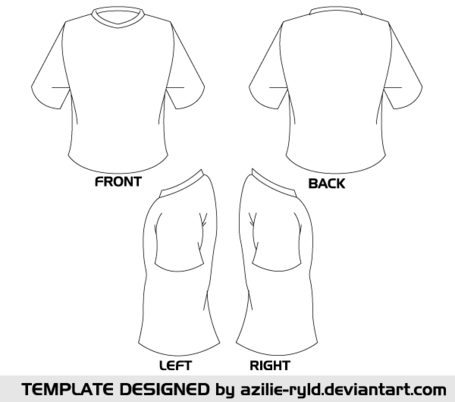 Blank Tshirt Template Vector Front and Back, free vector - Clipart.me