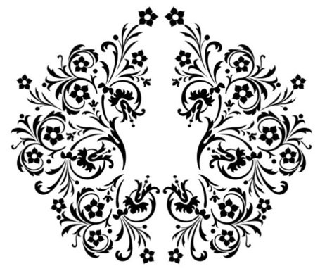 Exquisite black and white pattern