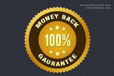 Money Back Guarantee Seal (PSD)