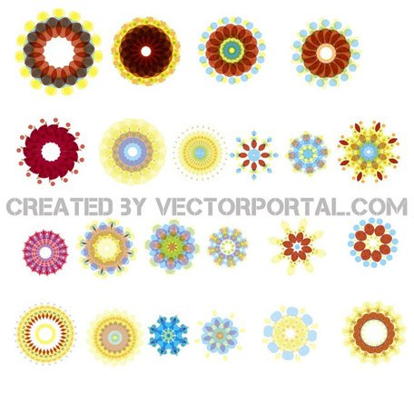 FLOWERS IN COLORS FREE VECTOR.ai