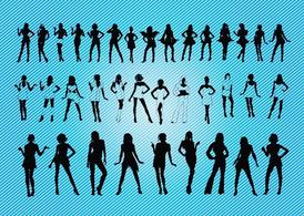 Sexy Girls-Silhouetten