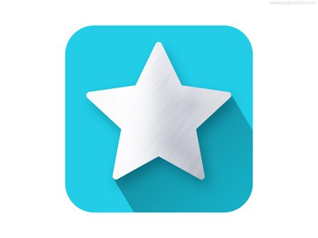 Star shape flat icon (PSD)