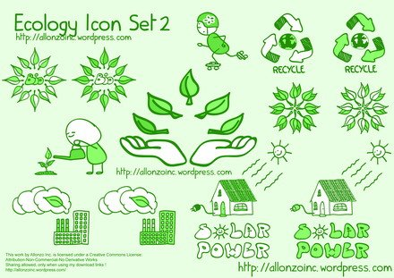 Ecología Icon Set 2