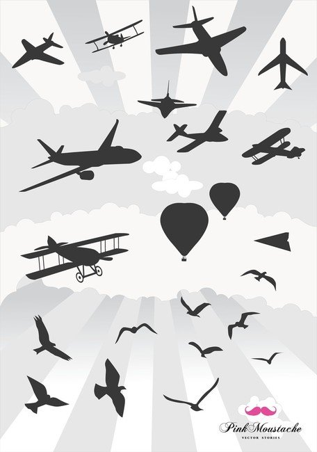 Things That Fly Vector Graphics Clipart Me