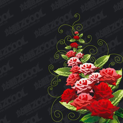 Rose decorative pattern