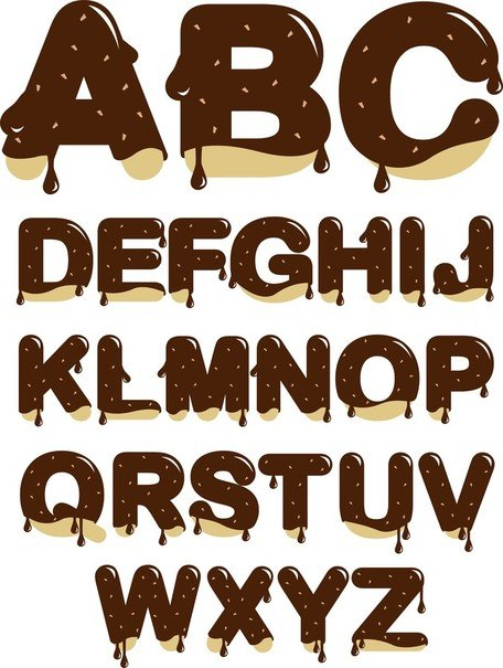 Chocolate letras
