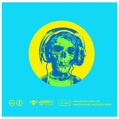 SKULL WITH HEADPHONES VECTOR GRAPHICS.eps