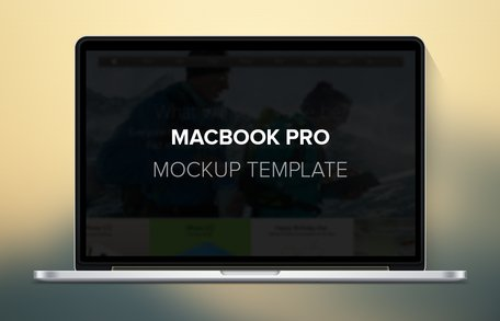 Macbook Pro Mockup Template