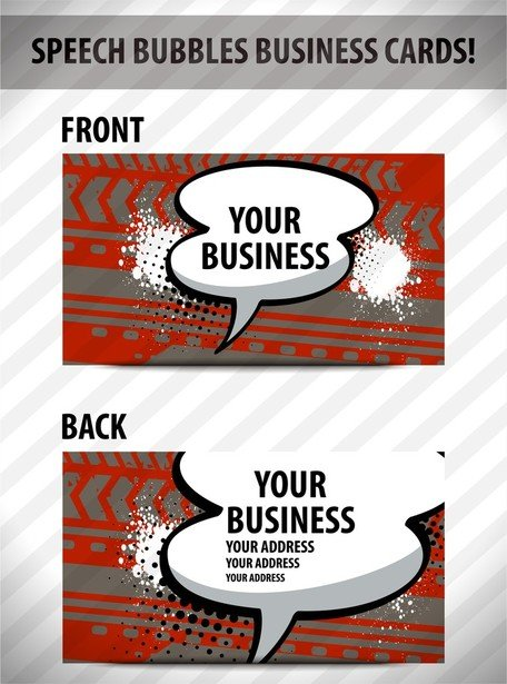 Speech Bubble Cards 02