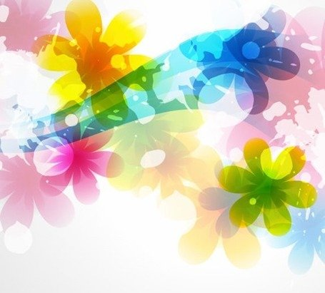Vector of Abstract Colorful Flower Background