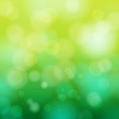 Abstract Bokeh Circles on Green Background