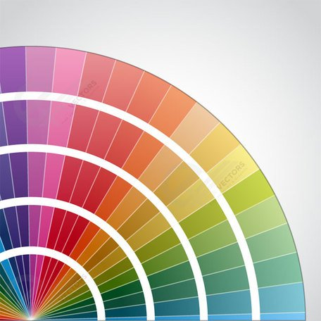 Color round palette on gray background