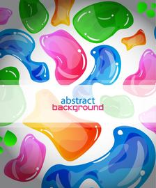 Colorful Abstract Jelly Background Template