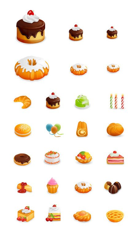 Western-style cakes beautiful icon