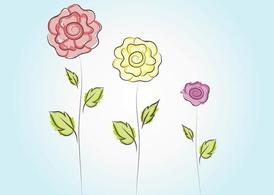 Cute Vector Flowers