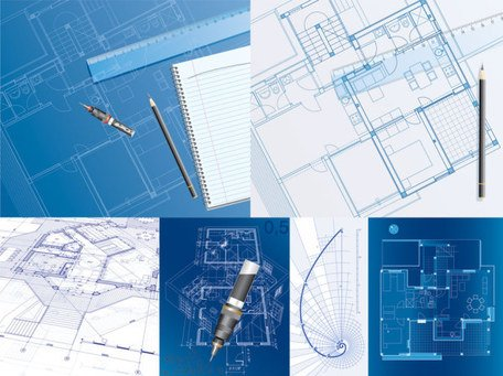 6 interior layout vector drawing subject material