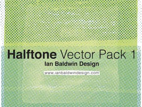 Free Halftone Pattern Illustrator Vector Pack