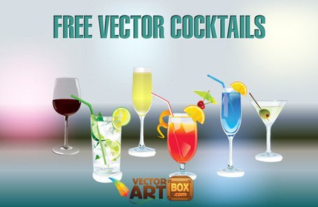 Gratis vektor Cocktail glas