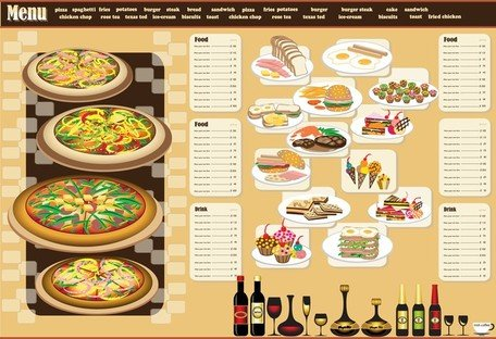 Menu restaurant Design 03