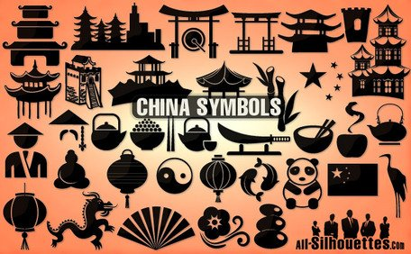 35 vector china pictogrammen