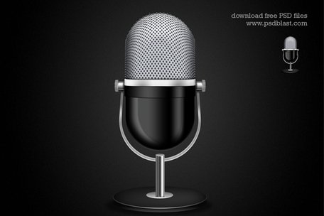 Microphone Icon (PSD)