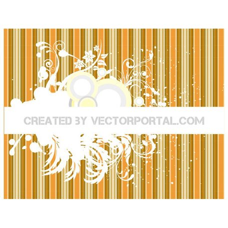 FLORAL GRUNGE ABSTRACT VECTOR BACKGROUND.eps
