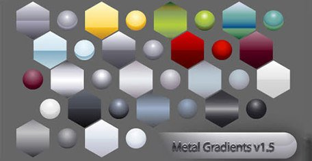 Metal gradient shape