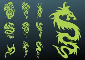 Set de tatouage dragons