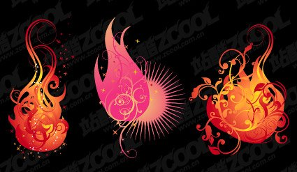 3 flame shape pattern