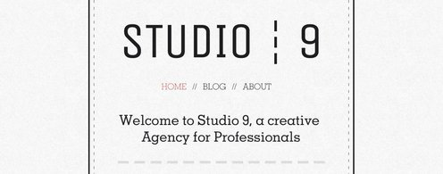 Studio 9 Creative Agency Portofolio PSD Template