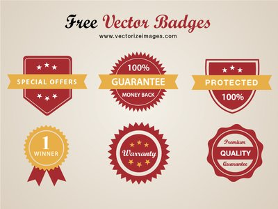 Pack chic Badge rouge conceptuel