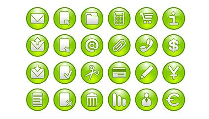 Common patterns of green circular icon