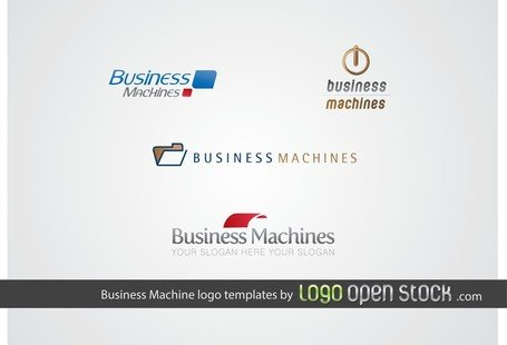 Business maskin logotyp mall