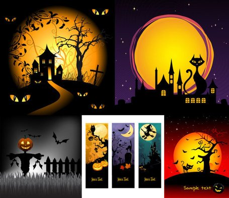 Illustrazione di cartone animato horror Halloween